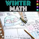 Winter Math Worksheets for Numbers, Addition and Subtraction