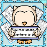 Winter Math  Numbers to 10 / Recognise Numbers to Ten, Worksheets, Printables