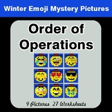 Winter Math: Order of Operations - Color-By-Number Mystery