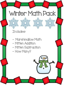 Winter Math Pack