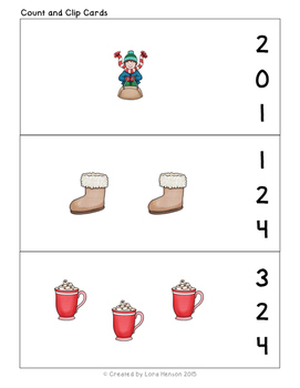 Winter Math Pack - Counting, Numbers, Measuring, Sorting, and More!