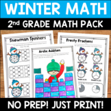 Winter Math Pack: No Prep Printable Worksheets/Activities for 2nd Grade