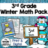 Winter Math Pack for 3rd Grade