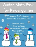 Winter Math Pack for Kindergarten