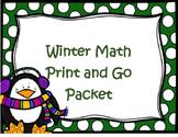 Winter Math Packet 1st Grade