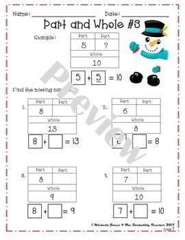 Winter Math Packet