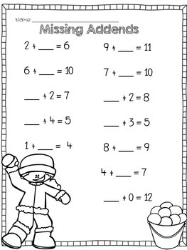 {FREE} Winter Math Packet