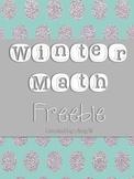 {FREE} Winter Math Packet