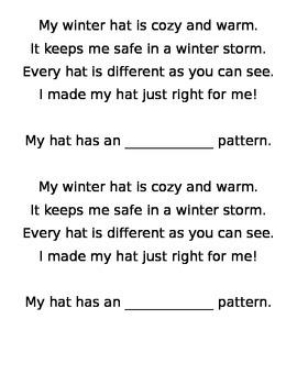 Winter Math Pattern craft Common core Kindergarten