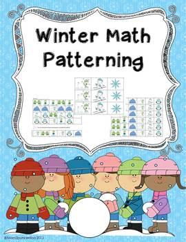 Winter Math Patterning Activity