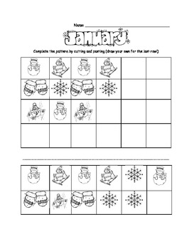 Winter Math Patterns!