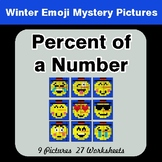 Winter Math: Percent of a number - Color-By-Number Mystery