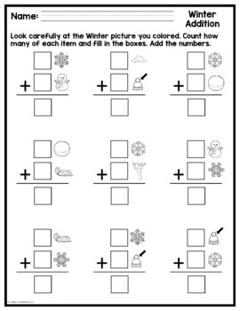 Winter Math Picture Pages