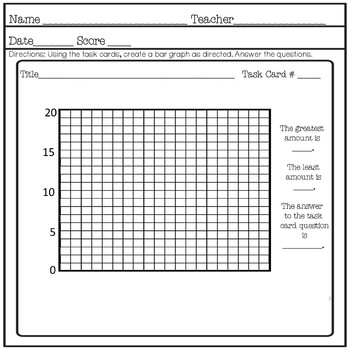 Winter Math Picture and Bar Graphs Represent Data Black and White Print No Prep