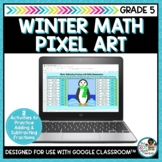 Winter Math Pixel Art | Adding and Subtracting Fractions