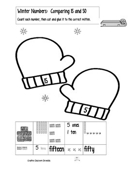 Winter Math Place Value:  First Grade Confusions