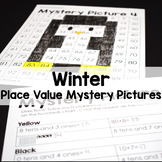 Winter Color By Number Place Value Mystery Pictures