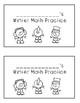 Winter Math Mini Practice Books
