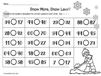 Winter Math Practice Pages
