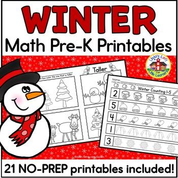 Winter Math Preschool Printables