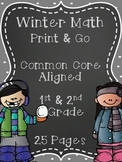 Winter Math Print & Go {Common Core Aligned 25 Pages}