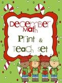 Winter Math Print & Teach Set - CCSS