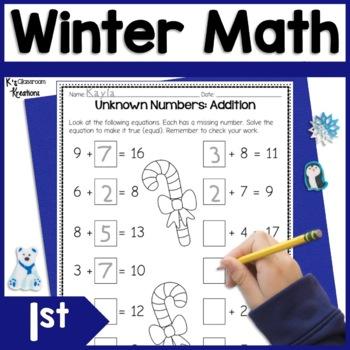 First Grade Winter Math Worksheets