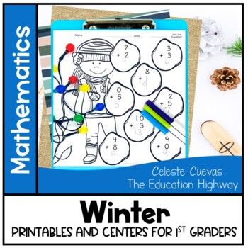 Winter Math Worksheets and Centers