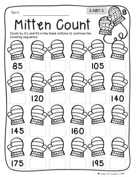 Winter Math Printables - Differentiated for 2nd Grade
