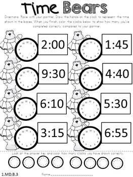 Math No Prep Winter Printables & Games First Grade