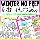 Math Worksheets and Games First Grade - Winter