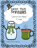 Winter Math Printables-No Prep!
