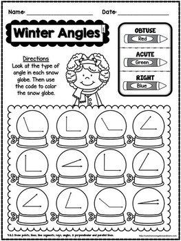winter no prep math 4th grade by beth kelly teachers pay teachers. Black Bedroom Furniture Sets. Home Design Ideas
