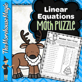 LINEAR EQUATIONS FROM ORDERED PAIRS MATH PUZZLE