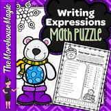 WRITING EXPRESSIONS FROM A NUMBER SENTENCE MATH PUZZLE