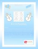 Winter Math Puzzle - Solving Inequalities