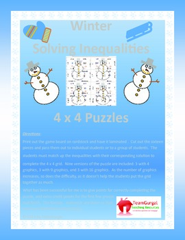 Winter Math Puzzle - Solving Inequalities