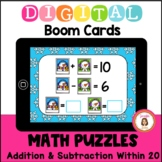 Winter Math Puzzles Boom Cards Distance Learning