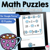 Winter Math Puzzles for Google Forms™
