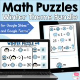 Winter Math Puzzles for Google Forms and Slides™ BUNDLE