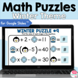 Winter Math Puzzles for Google Slides™