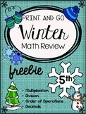 Winter Math Review Freebie