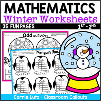 Winter Math Review ~ Over 30 Pages of Math Fun