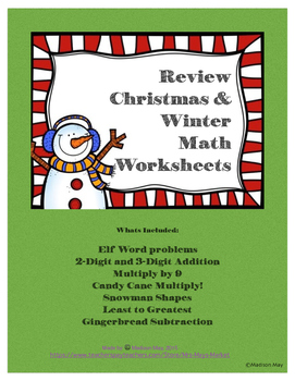 Winter Math Review Pack