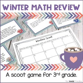 Winter Math Review: a scoot game or write the room