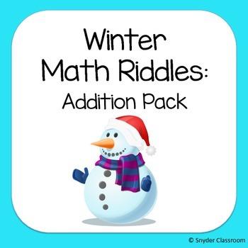 Winter Addition Math Riddles
