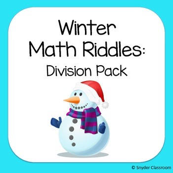 Winter Long Division Math Riddles