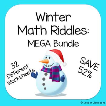 Winter Math Riddles MEGA Bundle (Save 52%)