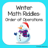 Winter Order of Operations Math Riddles