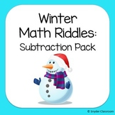 Winter Subtraction Math Riddles